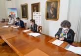 Firma del convenio entre el Ayuntamiento de Cartagena, UPCT y UMU