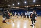 Noelia Arroyo en el entrenamiento del Basket Cartagena