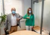 Firma de la cesión de la primera planta del Palacio Molina para Juzago de lo Mercantil