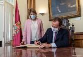 Recepción Emilio Butragueño en el Palacio Consistoria