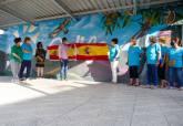 Mural homenaje a las mujeres rurales