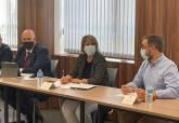 Reunión de los alcaldes de la región afectados por la alta velocidad con la presidenta de ADIF
