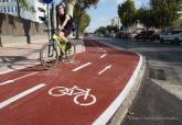 Carril bici de la calle Esparta
