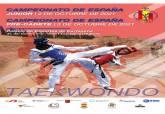 Cartel Campeonatos de España de Taekwondo