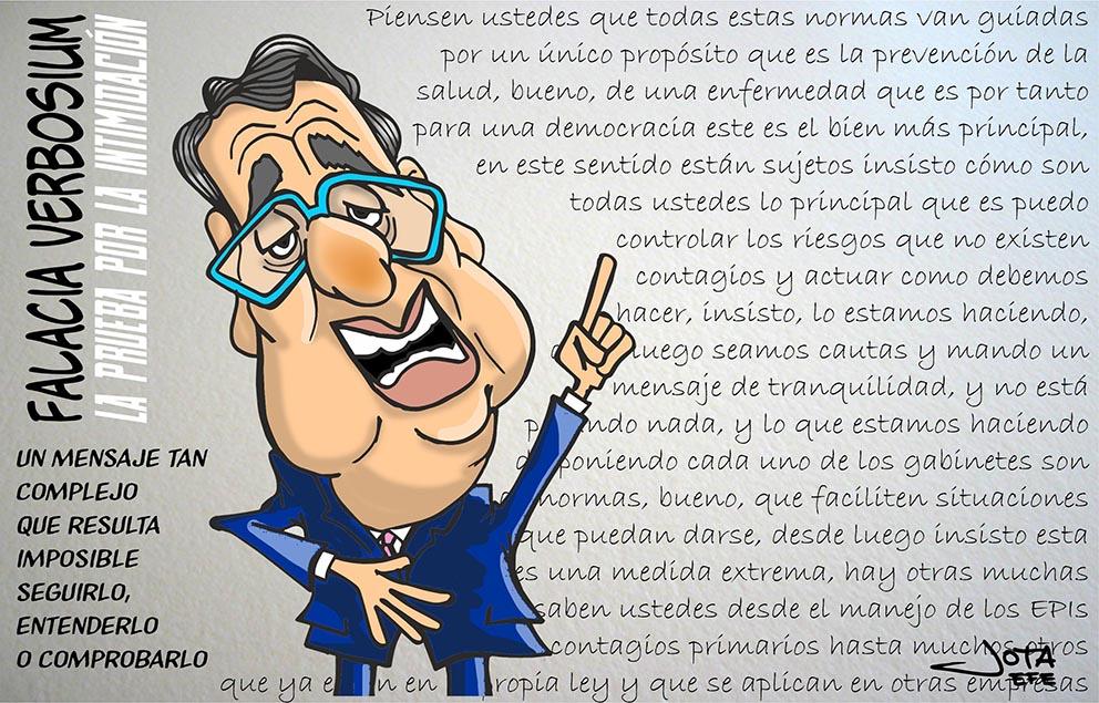 Falacia Verbosium. Caricatura Antonio Ozores
