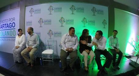 Rolando Rodríguez presentó campaña para la reelección en cantón central