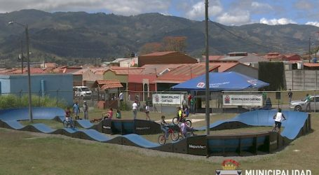 Cartago tiene la pista más grande del país de pump track bike