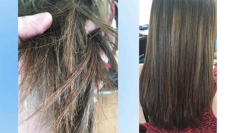 Corte de cabello en punta para dama