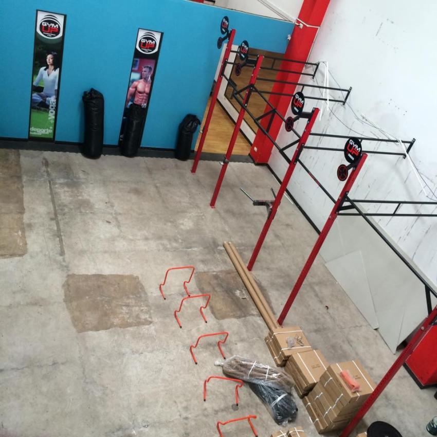 Se amplió la zona de gimnasio en la sede del Barrio El Molino.