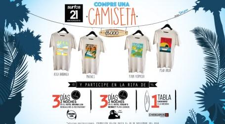 Compre una camisa y gane un fin de semana en Guanacaste o una tabla de surf