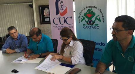 CCDR de Cartago y CUC se unen para promover el desarrollo académico y deportivo