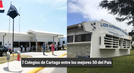 Estos son los mejores colegios públicos y privados de Cartago