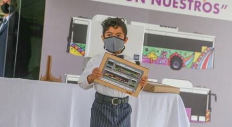 Buses eléctricos recorrerán calles con diseño de niño cartaginés