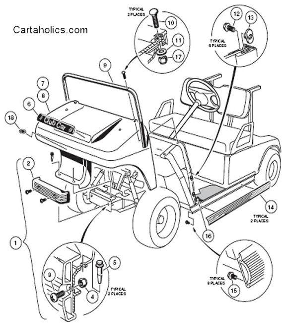 1987 Club Car Golf Cart Wiring Diagram - Wiring Diagram