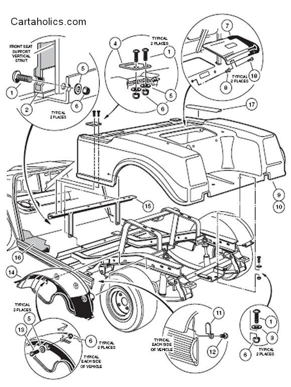1985 Electric Club Car Ds Wiring Diagram Club Car Battery Wiring