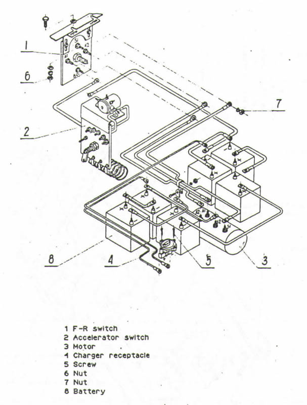 melex golf cart wiring diagram  resistor  models 112 212