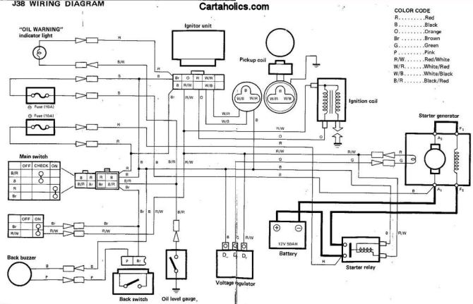 yamaha g2 j38 golf cart wiring diagram  gas  cartaholics