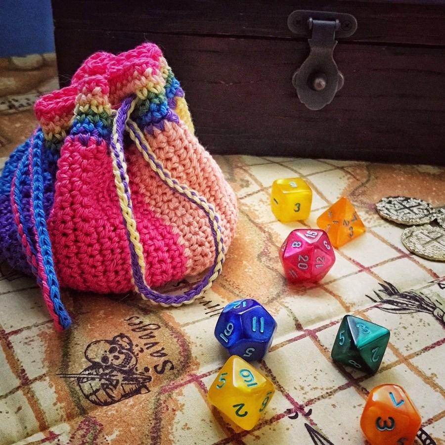 rainbow dice pouch