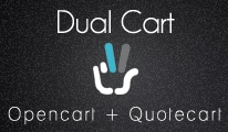 Dual cart : Opencart and quotation cart