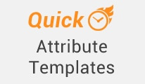 Quick attribute template opencart extension