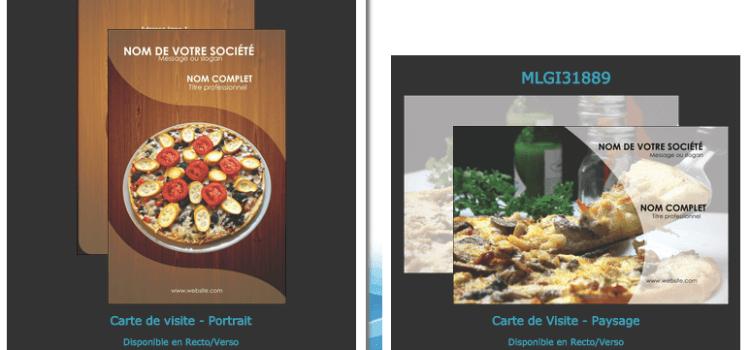 Modèle, exemple, aide graphique Carte de visite Fast-food,sandwicherie,kebab…