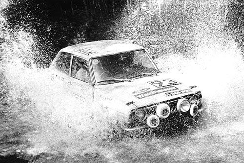 1975 | Karawanken-Safari 1975 Figura / Kulterer Toyota 1000 in den Drau-Auen