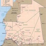 Map Mauritania Country Map Mauritania