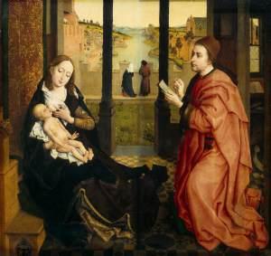 Rogier van der Weyden, S. Luca dipinge la Vergine, 1435