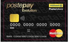 Carta prepagata PostePay Evolution