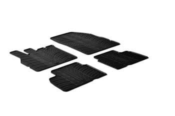 accessoire jeu de 4 tapis scenic 3 en caoutchouc sur mesure noir