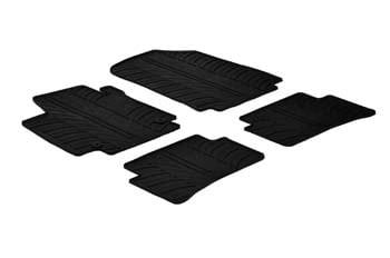 accessoire jeu de 4 tapis clio 4 en caoutchouc sur mesure noir