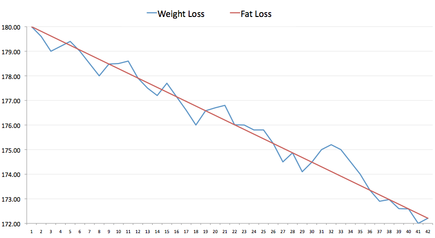 weight fluctuations vs fat loss