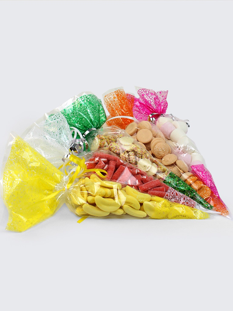 Sweet Cones Plastic Candy Cone Bags