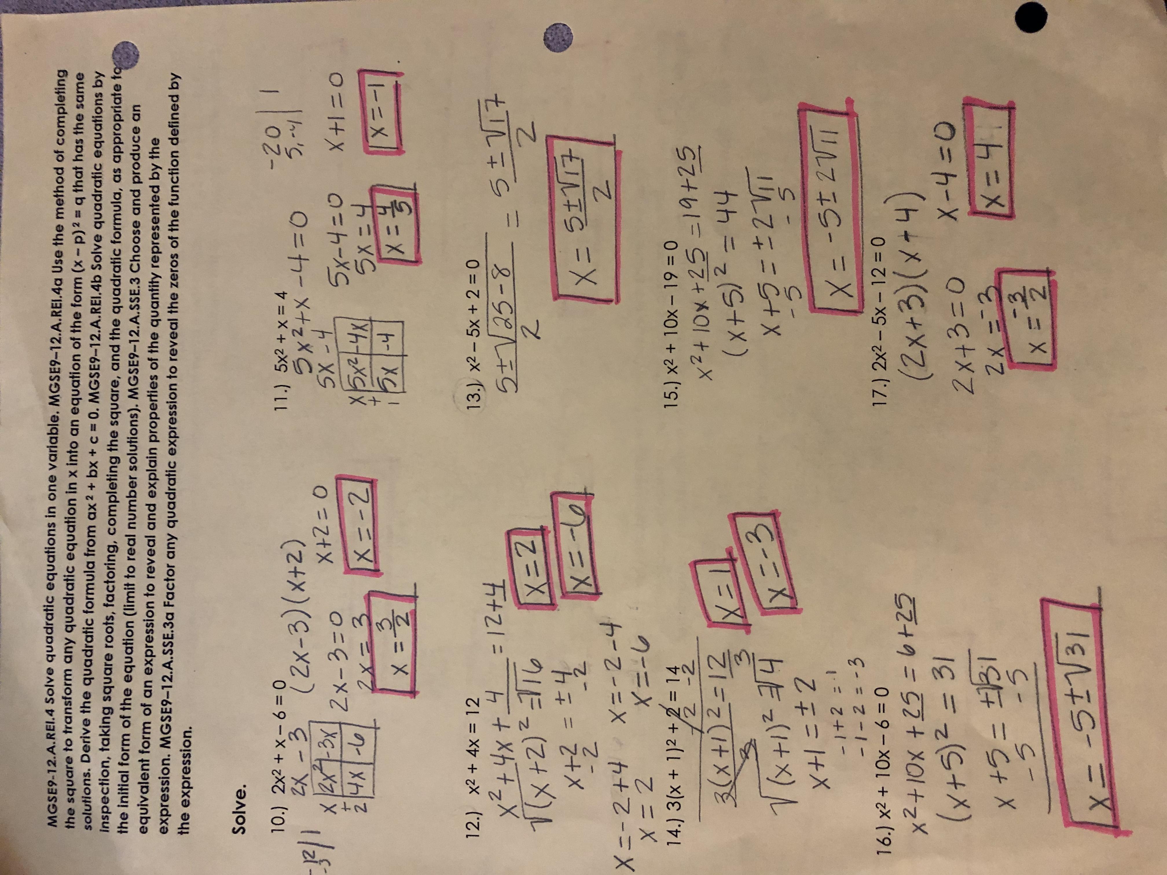 Rhonda Craig Honors Gse Algebra 1