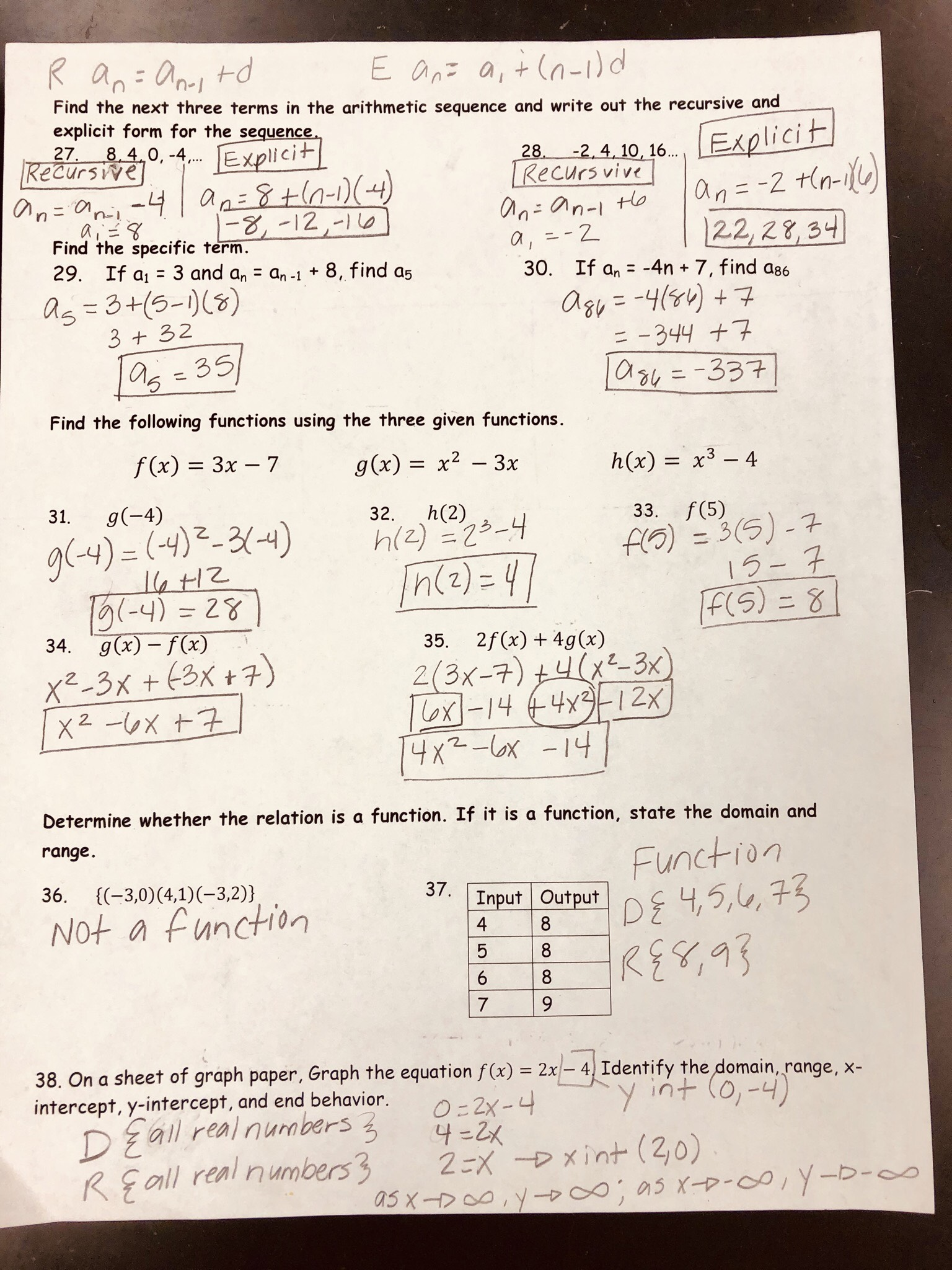 Unit 4 Test Study Guide Solving Quadratic Equations Gina