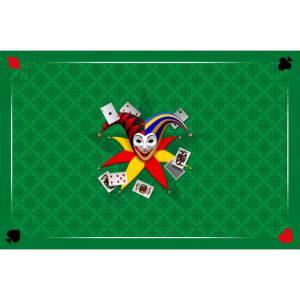 tapis de belote joker jersey neoprene 60 x 40 cm rectangulaire