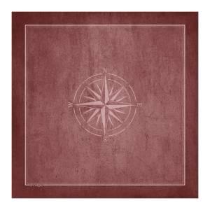 tapis de bridge rose des vents jersey neoprene 78 x 78 cm carre