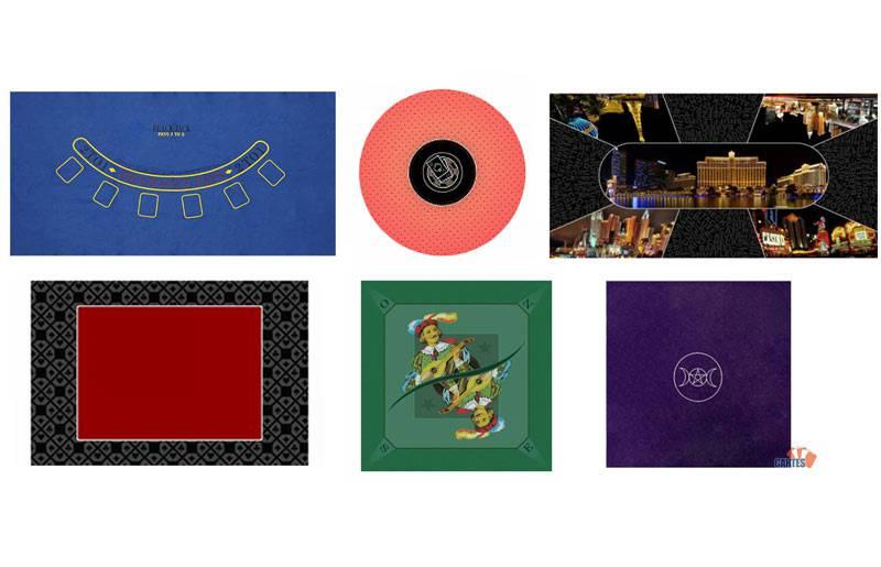 tapis de cartes forme couleur