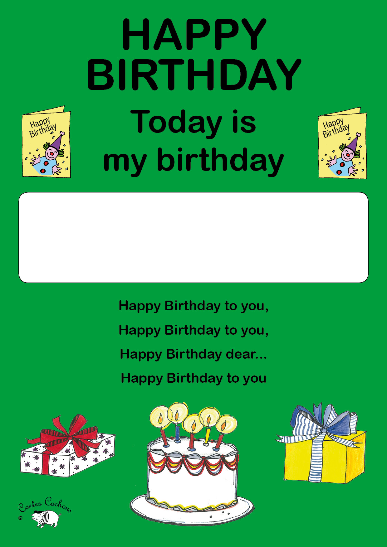 English Today Is My Birthday