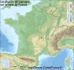 Localisation de Laprugne sur la carte de France
