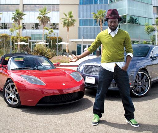 Will.I.Am Tesla Roadster
