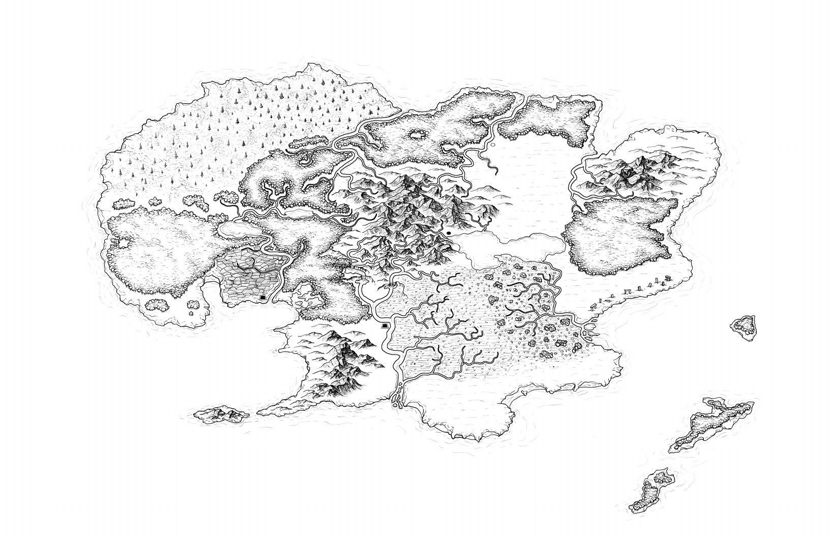 Map Of Dolmen Isle