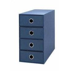 Scatola 4 cassetti Living - blu