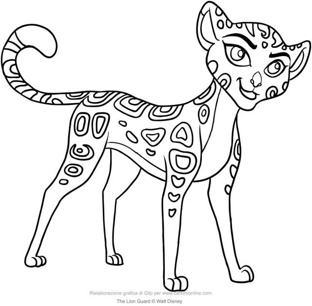 Coloriage de Fuli (La garde du Roi Lion)