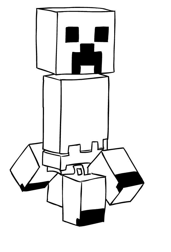 Imagenes De Dibujos De Minecraft Para Dibujar On Log Wall
