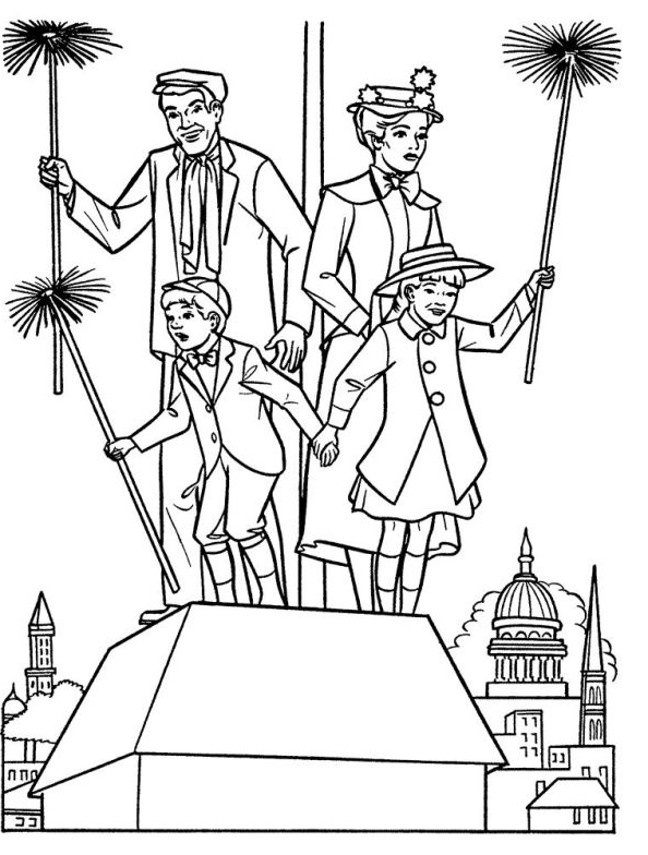 mary poppins coloring pages # 9