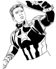 Captain America Avengers Endgame Coloring Pages Coloring Ideas