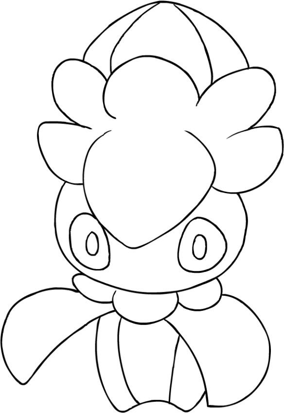 Disegno Di Fomantis Dei Pokemon Sole E Luna Da Colorare Pokémon