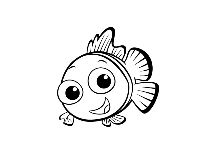 cartoon fish colouring pages