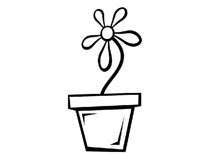 flower pot coloring page http printablecolouringpages co uk s plant